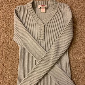 Girls silver sweater